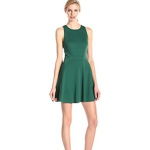 Trina Turk Melba Green Fit and Flare Dress SZ 10